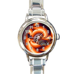 The Touch Digital Art Round Italian Charm Watch