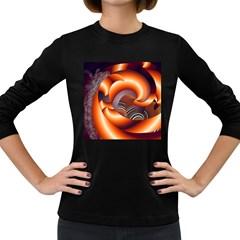 The Touch Digital Art Women s Long Sleeve Dark T Shirts