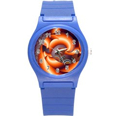 The Touch Digital Art Round Plastic Sport Watch (s) by Nexatart