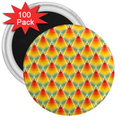 The Colors Of Summer 3  Magnets (100 Pack)
