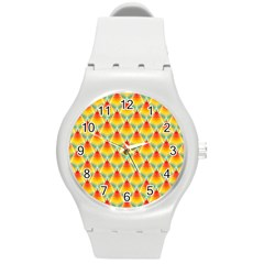 The Colors Of Summer Round Plastic Sport Watch (m)