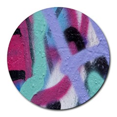 Texture Pattern Abstract Background Round Mousepads by Nexatart