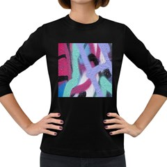 Texture Pattern Abstract Background Women s Long Sleeve Dark T Shirts