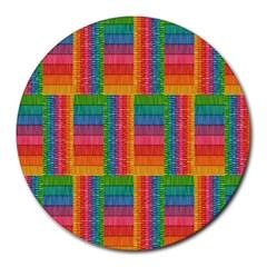 Texture Surface Rainbow Festive Round Mousepads