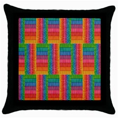 Texture Surface Rainbow Festive Throw Pillow Case (black)