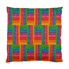 Texture Surface Rainbow Festive Standard Cushion Case (two Sides)