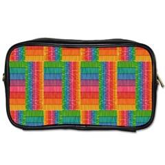 Texture Surface Rainbow Festive Toiletries Bags 2 Side