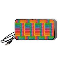 Texture Surface Rainbow Festive Portable Speaker (black)