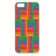 Texture Surface Rainbow Festive Apple Seamless Iphone 5 Case (color)