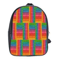 Texture Surface Rainbow Festive School Bags (xl)