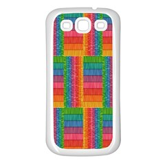 Texture Surface Rainbow Festive Samsung Galaxy S3 Back Case (white)