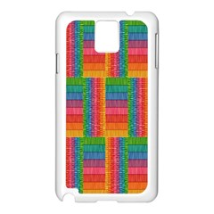 Texture Surface Rainbow Festive Samsung Galaxy Note 3 N9005 Case (white)