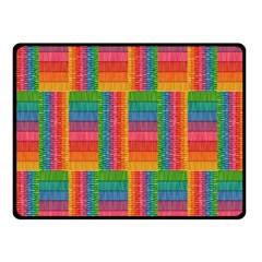 Texture Surface Rainbow Festive Double Sided Fleece Blanket (small)