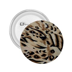 Tiger Animal Fabric Patterns 2.25  Buttons by Nexatart