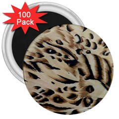 Tiger Animal Fabric Patterns 3  Magnets (100 Pack) by Nexatart