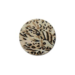 Tiger Animal Fabric Patterns Golf Ball Marker by Nexatart