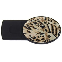 Tiger Animal Fabric Patterns Usb Flash Drive Oval (2 Gb)