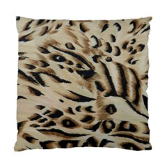 Tiger Animal Fabric Patterns Standard Cushion Case (two Sides) by Nexatart