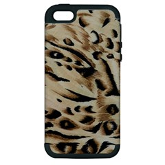 Tiger Animal Fabric Patterns Apple Iphone 5 Hardshell Case (pc+silicone)