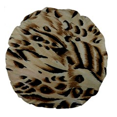 Tiger Animal Fabric Patterns Large 18  Premium Round Cushions