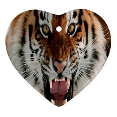 Tiger  Heart Ornament (two Sides)
