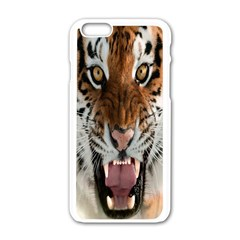 Tiger  Apple Iphone 6/6s White Enamel Case
