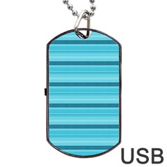 The Background Strips Dog Tag Usb Flash (two Sides) by Nexatart