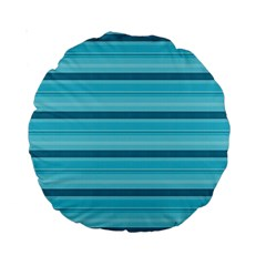 The Background Strips Standard 15  Premium Round Cushions