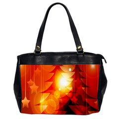 Tree Trees Silhouettes Silhouette Office Handbags (2 Sides)  by Nexatart