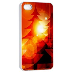 Tree Trees Silhouettes Silhouette Apple Iphone 4/4s Seamless Case (white)