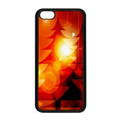 Tree Trees Silhouettes Silhouette Apple Iphone 5c Seamless Case (black)