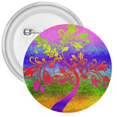 Tree Colorful Mystical Autumn 3  Buttons by Nexatart