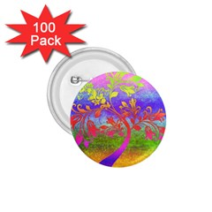 Tree Colorful Mystical Autumn 1 75  Buttons (100 Pack)  by Nexatart