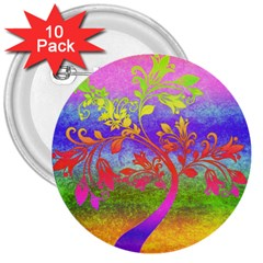 Tree Colorful Mystical Autumn 3  Buttons (10 pack)  by Nexatart