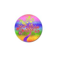 Tree Colorful Mystical Autumn Golf Ball Marker by Nexatart