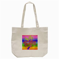 Tree Colorful Mystical Autumn Tote Bag (cream) by Nexatart
