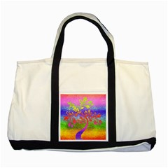 Tree Colorful Mystical Autumn Two Tone Tote Bag