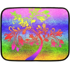 Tree Colorful Mystical Autumn Fleece Blanket (mini) by Nexatart