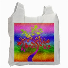 Tree Colorful Mystical Autumn Recycle Bag (two Side)  by Nexatart