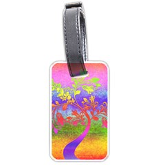 Tree Colorful Mystical Autumn Luggage Tags (one Side)  by Nexatart