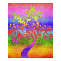 Tree Colorful Mystical Autumn Shower Curtain 60  X 72  (medium)  by Nexatart