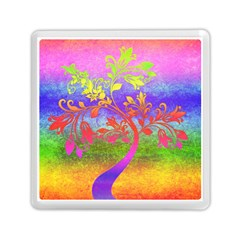 Tree Colorful Mystical Autumn Memory Card Reader (square)  by Nexatart