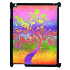 Tree Colorful Mystical Autumn Apple Ipad 2 Case (black) by Nexatart