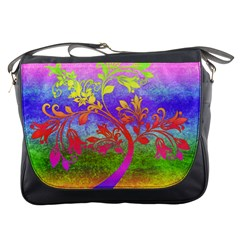 Tree Colorful Mystical Autumn Messenger Bags