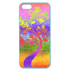 Tree Colorful Mystical Autumn Apple Seamless Iphone 5 Case (color)