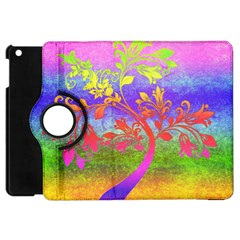 Tree Colorful Mystical Autumn Apple Ipad Mini Flip 360 Case by Nexatart