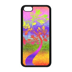 Tree Colorful Mystical Autumn Apple Iphone 5c Seamless Case (black)