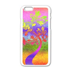 Tree Colorful Mystical Autumn Apple Iphone 6/6s White Enamel Case