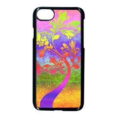 Tree Colorful Mystical Autumn Apple Iphone 7 Seamless Case (black) by Nexatart