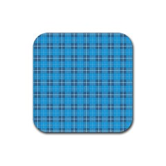 The Checkered Tablecloth Rubber Square Coaster (4 Pack)  by Nexatart